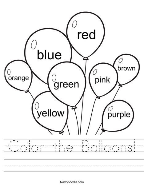 Color Year Color Worksheets For 2 Year